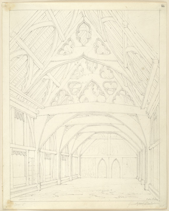 Timber building, Great Malvern, interior
